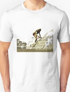 retro FAUSTO COPPI Tour de France cycling poster Unisex T-Shirt