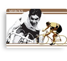 vintage poster EDDY MERCKX: the cannibal Canvas Print
