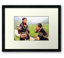 Black Hmoung 1 Framed Print