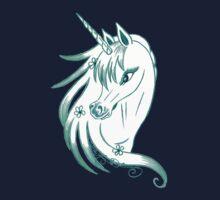 Pretty Blue Unicorn by AngelArtiste
