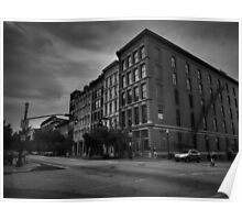 Downtown Louisville - W Main St 004 BW Poster