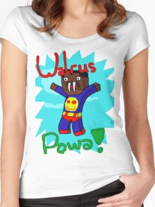 Super Walrus Powa! Shirt Design! Women's Fitted Scoop T-Shirt
