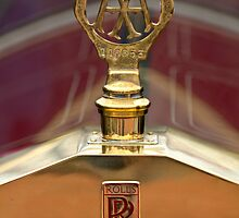 1910 Rolls-Royce Silver Ghost Balloon Car Hood Ornament by Jill Reger