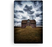 the devil in me said, go down to the shed.... Canvas Print