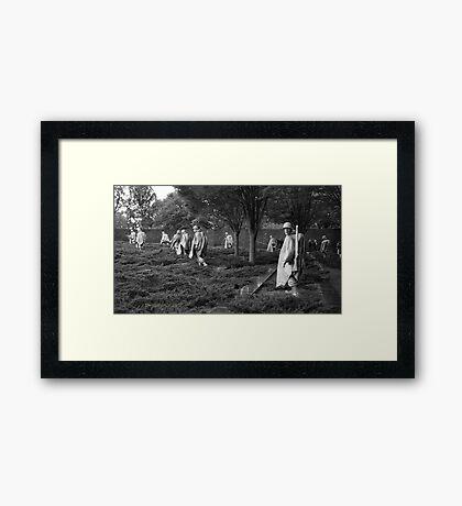 The Korean War Memorial Framed Print