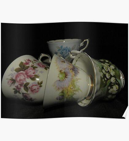 Grandma's Tea Cups Poster