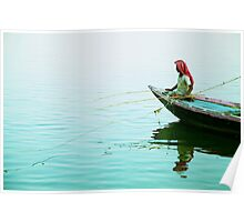 Fishing on the Ganges Poster