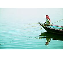 Fishing on the Ganges Photographic Print