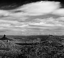 The Glasshouse Mountains by SDP1975