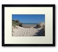 Dune Crossing Framed Print