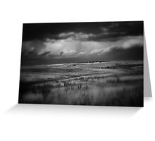 The Storm In Black & Whtie Greeting Card