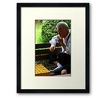 Korean chess man Framed Print