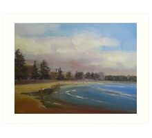 Cloudy day in Manly Art Print