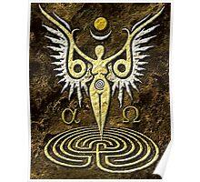 Angelic Bird Goddess Poster