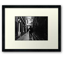 alley man Framed Print