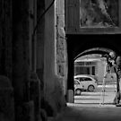 Mdina Malta --- The Photographer (Mono) by Edwin  Catania