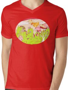 Magnolia Diamond Finds Her Wings Mens V-Neck T-Shirt