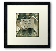 Pretend Framed Print