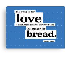 Mother Teresa Quote Typography Canvas Print