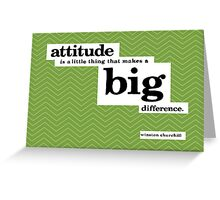 Winston Churchill Quote Typography Greeting Card