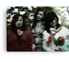 The zombie family Canvas Print