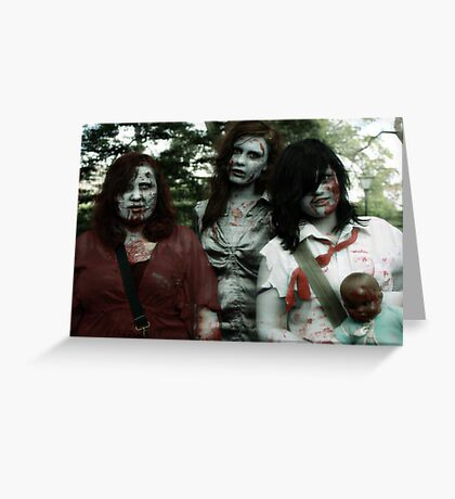 The zombie family Greeting Card