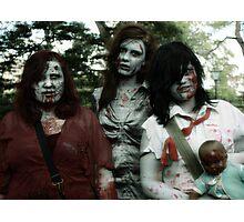 The zombie family Photographic Print