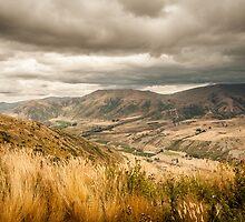 Crown Range Road Otago by Ron Gabriel