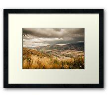 Crown Range Road Otago Framed Print