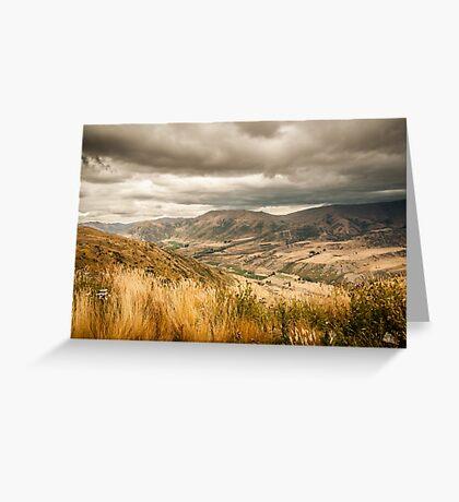 Crown Range Road Otago Greeting Card