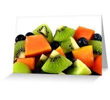 Red Papaya Fruit Salad Greeting Card
