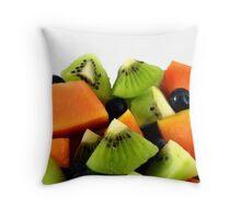Red Papaya Fruit Salad Throw Pillow