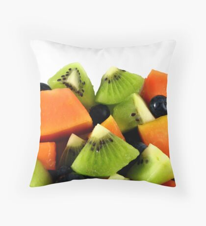 Red Papaya Fruit Salad Throw Pillow