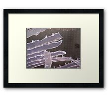 Urban Ice Framed Print