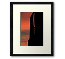 Balcony At Sunset Framed Print