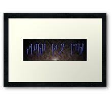 Fus Ro Duh - Skyrim Dragon Writing Framed Print