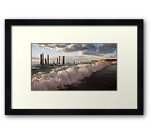The Long Wave Framed Print