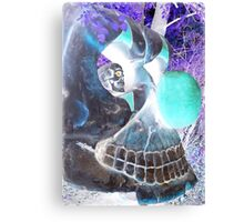 I Spy With My Skeleton Eye Clown Canvas Print