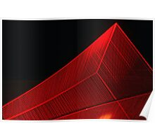 Red Sculpture Poster