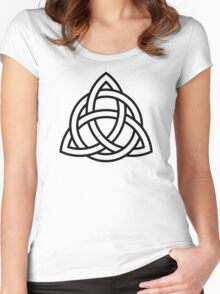 Interlaced Triquetra Women's Fitted Scoop T-Shirt