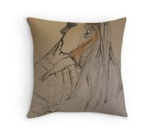 ELLIE IN LONDON 5 Deep In Thought Throw Pillow