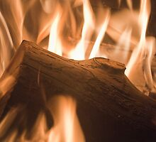 Wood on fire by Clockworkmary