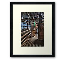 Just through here Mate Framed Print