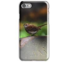 Zonotrichia Albicollis - White-Throated Sparrow | New York City, New York iPhone Case/Skin