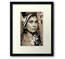 Natural Indian Beauty Framed Print