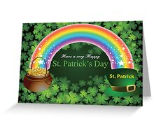 Happy St. Patrick's Day Card Greeting Card
