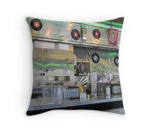Emerald Diner Shines Throw Pillow