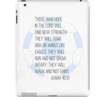 Bible verse + soccer iPad Case/Skin