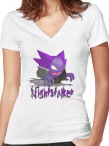 Nightstalker Hunter Haunter Women's Fitted V-Neck T-Shirt
