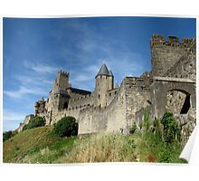 The Castle Ramparts Carcassonne Poster
